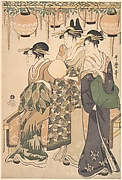 Three Ladies under Japanese Lanterns