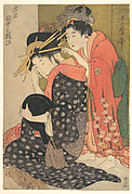 The Oiran Yoso-oi Seated at Her Toilet