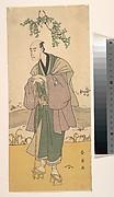 The Third Bando Hikosaburo as a Man Standing on the Bank of a River