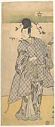 The Actor Sawamura Sojuro III as a Nobleman Writing Poetry
