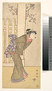 The Fourth Iwai Hanshiro as a Woman Standing under a Torii