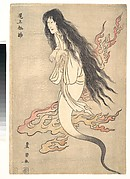 "Onoe Matsusuke as the Ghost of the Murdered Wife Oiwa, in ""A Tale of Horror from the Yotsuya Station on the Tokaido Road"""