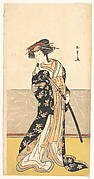 The Actor Nakamura Rikō, as a Courtesan with a Sword