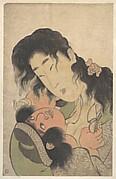 Yamauba Playing with the Young Kintoki