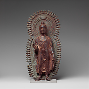 Buddha with Radiate Halo and Mandorla