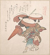 Three Dancers of Sumiyoshi or Suminoye