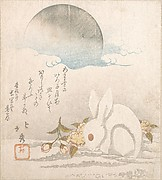 Moon; White Hare in Snow