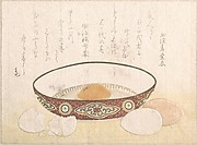 Flat Bowl with Eggs