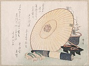 Umbrellas and Geta (Japanese Wooden Sandals)