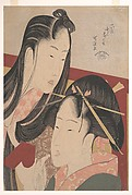 Squeaking a Ground Cherry, from the series Seven Fashionable Useless Habits (Furyu nakute nana kuse)