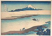 Fuji—The Tama River, Musashi Province, from the series Thirty-six Views of Mount Fuji (Fugaku sanjūrokkei)