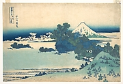 Shichirigahama in Sagami Province (Sōshū Shichirigahama), from the series Thirty-six Views of Mount Fuji (Fugaku sanjūrokkei)