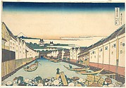 Nihonbashi in Edo (Edo Nihonbashi), from the series Thirty-six Views of Mount Fuji (Fugaku sanjūrokkei)