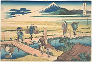 Nakahara in Sagami Province (Sōshū Nakahara), from the series Thirty-six Views of Mount Fuji (Fugaku sanjūrokkei)