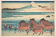The New Fields at Ōno in Suruga Province (Sunshū Ōno shinden), from the series Thirty-six Views of Mount Fuji (Fugaku sanjūrokkei)