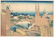 Tatekawa in Honjō (Honjō Tatekawa), from the series Thirty-six Views of Mount Fuji (Fugaku sanjūrokkei)