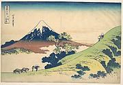 The Inume Pass in Kai Province (Kōshū Inume tōge), from the series Thirty-six Views of Mount Fuji (Fugaku sanjūrokkei)