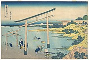 Noboto Bay (Noboto no ura), from the series Thirty-six Views of Mount Fuji (Fugaku sanjūrokkei)