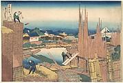 Tatekawa in Honjō (Honjō Tatekawa), from the series Thirty-six Views of Mount Fuji (Fugaku sanjūrokkei)