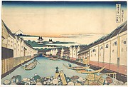 Nihonbashi in Edo (Edo Nihonbashi), from the series Thirty-six Views of Mount Fuji (Fugaku sanjūrokkei)