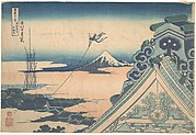 Honganji at Asakusa in Edo (Tōto Asakusa Honganji), from the series Thirty-six Views of Mount Fuji (Fugaku sanjūrokkei)