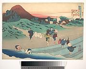 Poem by Jitō Tenno (Empress Jitō), from the series One Hundred Poems Explained by the Nurse (Hyakunin isshu uba ga etoki)