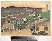 Poem by Fujiwara no Michinobu Ason, from the series One Hundred Poems Explained by the Nurse (Hyakunin isshu uba ga etoki)