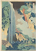 Ono Waterfall on the Kisokaidō (Kisokaidō Ono no bakufu), from the series A Tour of Waterfalls in Various Provinces (Shokoku taki meguri)