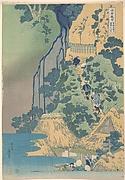 Kiyotaki Kannon Waterfall at Sakanoshita on the Tōkaidō (Tōkaidō Sakanoshita Kiyotaki kannon), from the series A Tour of Waterfalls in Various Provinces (Shokoku taki meguri)
