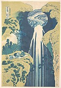 The Amida Falls in the Far Reaches of the Kisokaidō Road (Kisoji no oku Amida-ga-taki), from the series A Tour of Waterfalls in Various Provinces (Shokoku taki meguri)