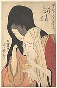 Jihei of Kamiya Eloping with the Geisha Koharu of Kinokuniya