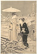 "Kayoi Komachi, from the series ""Seven Elegant Episodes of the Poet Komachi"" (Fūryū nanakomachi kayoi)"