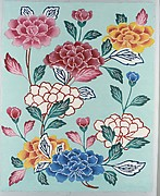 Bingata Panel with Tree Peonies