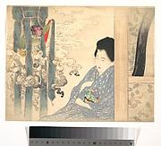 """Frontispiece to """"An Owl's Story"""", by Izumi Kyoka"""