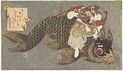 Shiei (?) on His Carp