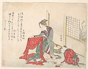 Woman Folding Cloth