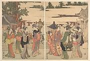Horinouchi Myo-ho-ji Eho Mairi no Zu