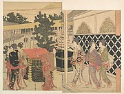 Pilgrimage to Myōhōji in Horinouchi, Edo