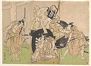"Ichikawa Ebizo (Danjuro IV, 1711–1778) in the Scene ""Pulling the Carriage Apart"" from the Play Sugawara's Secrets of Calligraphy"