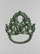 Palanquin Ring with Demon Battling a Horse