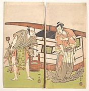 The Actor Otani Hiroji III and the Actor Onoe Kikugoro I