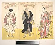 Ichikawa Yaozo II in Ceremonial Dress; Onoe Matsusuke Holding a Gourd; Sawamura Sojuro Holding a Writing Brush