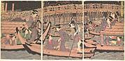 Cooling Off at Ryogoku in Edo