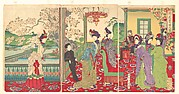 A Contest of Elegant Ladies among the Cherry Blossoms (Kaika kifujin kisoi)