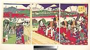 A Glimpse of Higayashiyama the Western Capital, from the series Famous Places in the Nation (Shokoku meisho zukai no uchi-Saikyō Higashiyama ichiran)