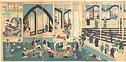 Foreigners Enjoying a Party at the Gankirō Tea House