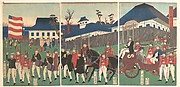 Picture of a Procession of Foreigners at Yokohama