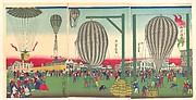 Illustration of a Balloon Ascending (Fūsen shōyō no zu)