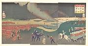 Maneuvers by Three Categories of French and English Soldiers (Furansu Igirisu sanhei ōchōren no zu)