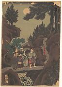 Shanaō [Yoshitsune] Learns Martial Arts in Sōjōgatani (Shanaō Sōjōgatani ni heijutsu o manabu zu)